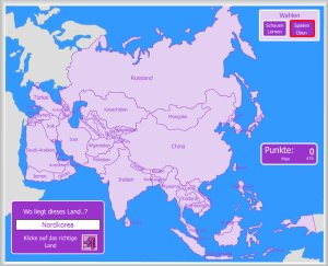 Stumme Karte Asien Lander Hauptstadte.Asien Interaktive Karten Enrique Alonso