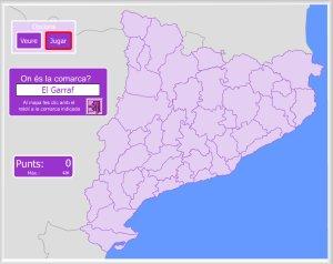 Mapa De Les Comarques De Catalunya I Capitals.Primaria Cicle Mitja Seguim Aprenent Les Comarques De Catalunya