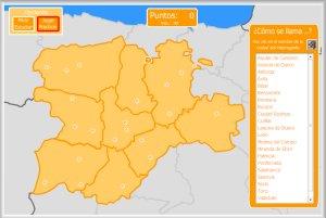 Castilla y Len  Mapas interactivos  Enrique Alonso Juegos