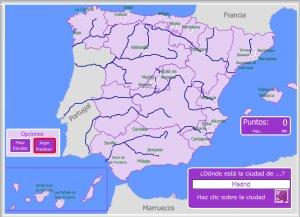 Mapa Interactivo Rios España.Espana Mapas Interactivos Enrique Alonso Juegos