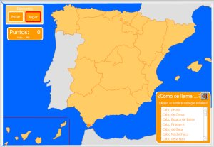 Espaa  Mapas interactivos  Enrique Alonso Juegos didcticos