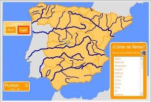 Mapa Rios De España 6 Primaria.Espana Mapas Interactivos Enrique Alonso Juegos