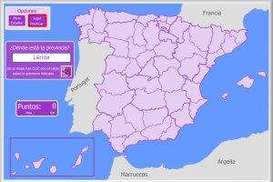 Mapa Flash Provincias Espana.Espana Mapas Interactivos Enrique Alonso Juegos Didacticos Para Aprender Geografia
