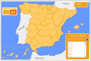 Costas De España Mapa.Espana Mapas Interactivos Enrique Alonso Juegos