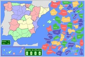 Mapa Provincias España Interactivo.Espana Mapas Interactivos Enrique Alonso Juegos