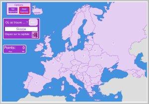carte europe interactive