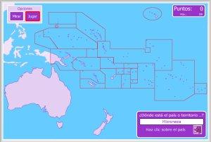 Oceana y Australia  Mapas interactivos  Enrique Alonso Juegos