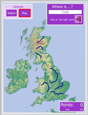 Map Of Uk Mountains And Rivers.United Kingdom Interactive Maps Enrique Alonso