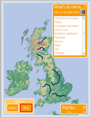 Map Of Uk Rivers And Mountains.United Kingdom Interactive Maps Enrique Alonso